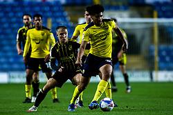 Nico Jones of Oxford United takes on Kieran Phillips of Bristol Rovers - Mandatory by-line: Robbie Stephenson/JMP - 06/10/2020 - FOOTBALL - Kassam Stadium - Oxford, England - Oxford United v Bristol Rovers - Leasing.com Trophy