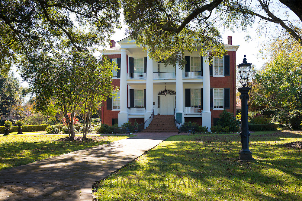Rosalie 19th Century Greek Revival style antebellum plantation mansion house Natchez, Mississippi USA