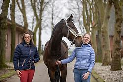 Roos Laurence, Luyten Laura, BEL, Lamborghini<br /> J2L Dressage Horses - Hoogstraten 2021<br /> © Hippo Foto - Dirk Caremans<br /> 16/01/2021