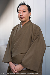 "My good friend ""Yass"" Yasuhiro Goto after performing the Tea Ceremony, Tokyo, Japan. December 11, 2015.  Photography ©2015 Michael Lichter."