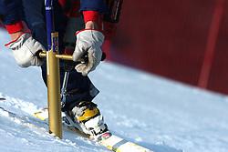 Gate at 9th men's slalom race of Audi FIS Ski World Cup, Pokal Vitranc,  in Podkoren, Kranjska Gora, Slovenia, on March 1, 2009. (Photo by Vid Ponikvar / Sportida)