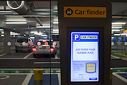 Car Finder screen technology and car park architecture at Heathrow's terminal 5.