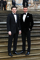 Brooklyn Beckham and David Beckham, Our Planet - Global premiere, Natural History Museum, London, UK, 04 April 2019, Photo by Richard Goldschmidt