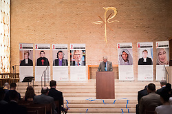 """12 September 2017, New York, USA: On 12 September, leaders from a variety of faiths and confessions gathered at the Interchurch Center Chapel in New York, for an interfaith prayer service on the theme """"Leading by Example: Faith and HIV Testing"""". Here, David Barstow."""
