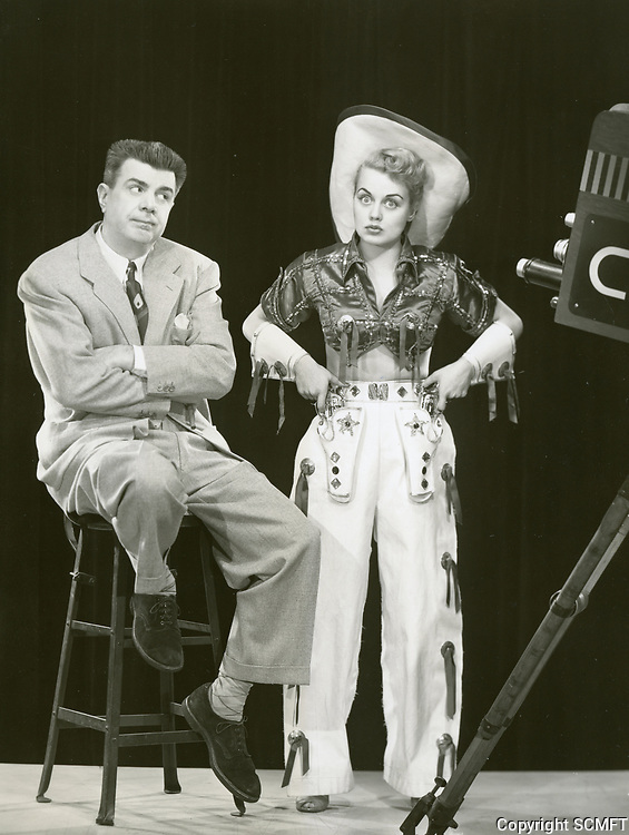 1952 Ken Murray & Laurie Anders at the Blackouts TV program