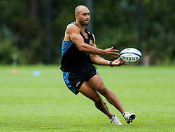 Olly Woodburn in action as Exeter Chiefs take part in stage one training as Premiership Rugby clubs take the first steps towards a return to play in August after the Covid-19 enforced break - Rogan/JMP - 19/06/2020 - RUGBY UNION - Sandy Park - Exeter, England - Gallagher Premiership.