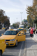 Turkey, Istanbul, Yellow Taxi cabs