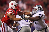Ndamukong Suh tries to shed the block of Kenneth Mayfield during Nebraska's 17-3 win over Kansas State on Nov. 21, 2009 at Memorial Stadium in Lincoln, Neb.. ©Aaron Babcock