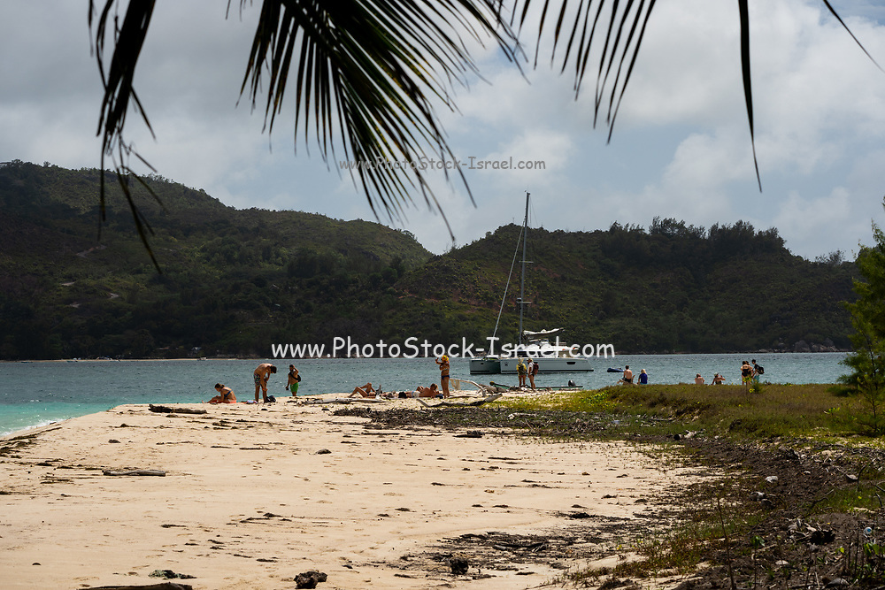 View of Moyenne Island from St. Anne Marine National Park, on Mahe Island, Seychelles