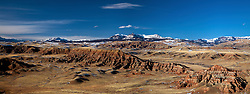 Dubois Badlands, Absaroka Mountains, Panorama, Dubois, Wyoming