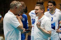 20180505 NED: Eredivisie Seesing Personeel Orion - Abiant Lycurgus, Doetinchem<br />Gerard Smit, assistant coach of Abiant Lycurgus, Arjan Taaij, headcoach of Abiant Lycurgus<br />©2018-FotoHoogendoorn.nl