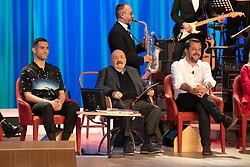 Maurizio Costanzo, Mahmood and Matteo Salvini at Costanzo show at Studios Lumina in Rome. 26.03.19 Lucia Casone/Soevermedia (Credit Image: © Lucia Casone/Soevermedia via ZUMA Press)