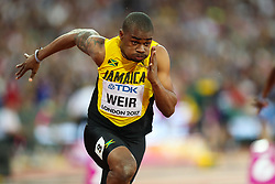 London, 2017 August 07. Warren Weir, Jamaica, in the men's 200m heats on day four of the IAAF London 2017 world Championships at the London Stadium. © Paul Davey.