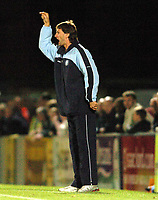 Picture: Henry Browne.Digitalsport<br /> Date: 24/08/2004.<br /> Wycombe Wanderers v Bristol City Carling Cup First Round.<br /> <br /> Tony Adams gets angry with his Wycombe players.