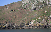 Landing place cliffs Skomer Island, Pembrokeshire, Wales