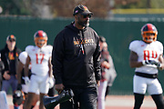 Los Angeles Wildcats coach Winston Moss during practice, Wednesday, Feb. 5, 2020, in Long Beach, Calif. The Wildcats are part of the eight-team XFL, a professional American football league owned by Vince McMahon's Alpha Entertainment, with  headquarters in Stamford, Connecticut. It is the successor to the original XFL, which was controlled by the World Wrestling Federation (WWF, now WWE)  and NBC, and ran for a single season in 2001.