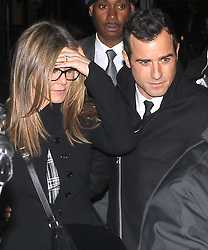 "File photo - Actress Jennifer Aniston with her fiance Justin Theroux leaves the after party of her screening The Cake at the Jimmy in Soho, New York City, NY, USA, on November 16, 2014. Hollywood couple Jennifer Aniston and Justin Theroux are separating after two years of marriage. The pair, who reportedly met on the set of comedy film Wanderlust, said the mutual decision was ""lovingly made"" at the end of last year. Photo by Charles Guerin-Morgan Dessalles/ABACAPRESS.COM"