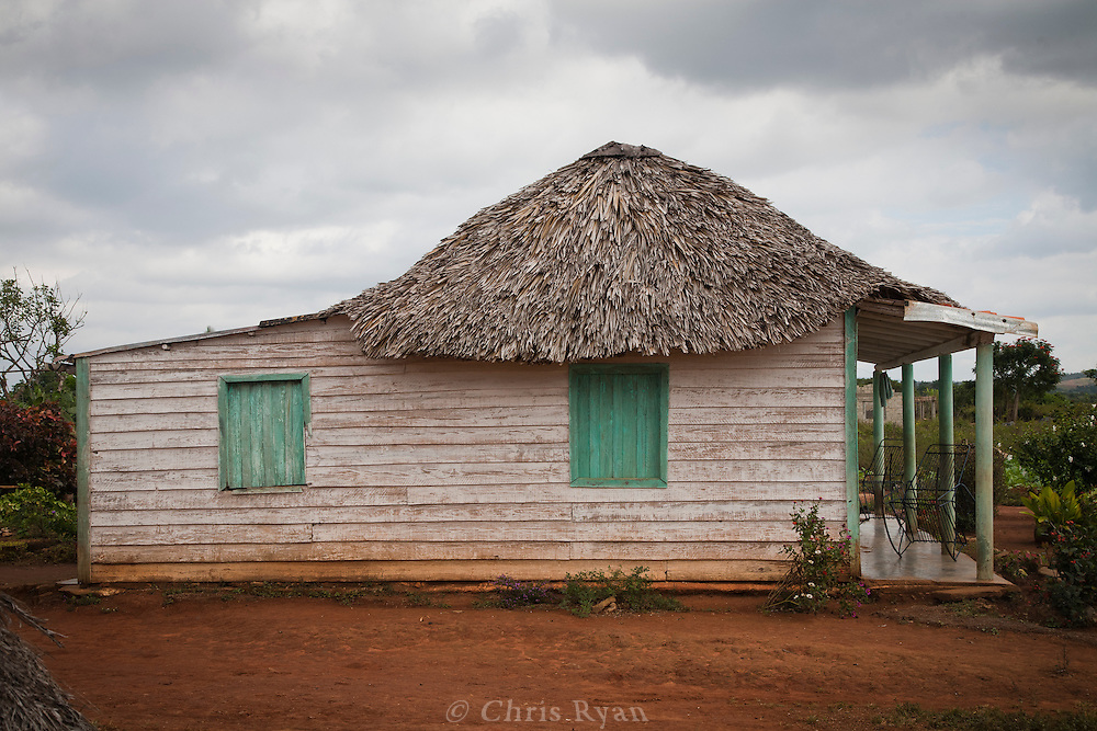 Thatch-roofed farmhouse, Vinales Valley, Cuba