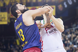 January 27, 2017 - Barcelona, Spain - Vitor Faverani of FC Barcelona in action during the Euroleague Turkish Airlines EuroLeague regular season between FC Barcelona vs Baskonia Vitoria Gasteiz at Palau Blaugrana on January 28th, 2017 in Barcelona, Spain. (Credit Image: © Xavier Bonilla/NurPhoto via ZUMA Press)