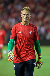PASADENA, USA - Wednesday, July 27, 2016: Liverpool's goalkeeper Alex Manninger before the International Champions Cup 2016 game against Chelsea on day seven of the club's USA Pre-season Tour at the Rose Bowl. (Pic by David Rawcliffe/Propaganda)
