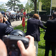 Photographers photograph a celebrity arriving at the race meeting at Royal Ascot Race Course. Royal Ascot is one of the most famous race meetings in the world, frequented by Royalty and punters from the high end of society to the normal everyday working class. Royal Ascot 2009, Ascot, UK, on Tuesday, June 16, 2009. Photo Tim Clayton..