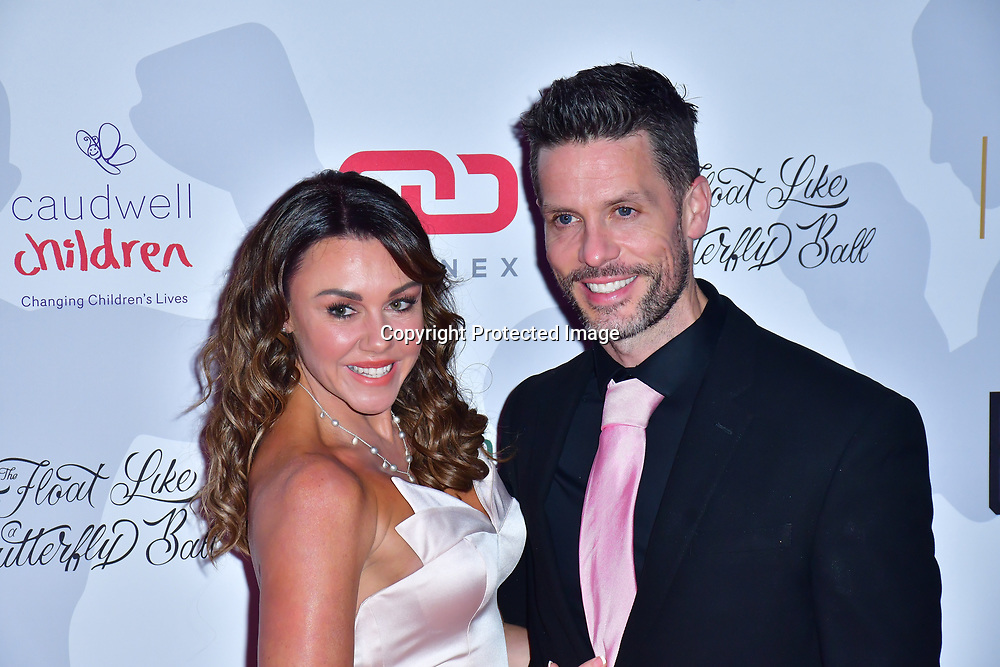 Michelle Heaton arrive at Float Like A Butterfly Ball for Caudwell Children Charity at Grosvenor House Hotel on 16 November 2019, London, UK.