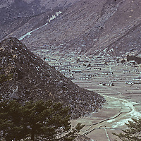 Khumjung, a leading town of the Sherpa people in the Khumbu region of Nepal.