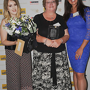 London,England,UK, 4th Aug 2016 : Charlotte Kerwood is a British sports shooter present the Outstanding Rescue Cat awards to Jessie at the National Cat Awards 2016 at Savoy Hotel, London,UK. Photo by See Li