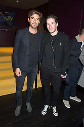 Left to right, ROBERT KONJIC and BLAISE PATRICK at the Al Films and Warner Music Screening of Kill Your Friends held at the Curzon Soho Cinema, 99 Shaftesbury Avenue, London on 27th October 2015.
