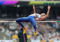 Athletics - 2017 IAAF London World Athletics Championships - Day Two (AM Session)<br /> <br /> Event: High Jump Women - Heptathlon<br /> <br /> Katarina Johnson-Thompson clears the bar with her first jump<br /> <br /> COLORSPORT/DANIEL BEARHAM