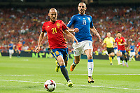 Spain's David Silva and Italy's Leonardo Bonucci during match between Spain and Italy to clasification to World Cup 2018 at Santiago Bernabeu Stadium in Madrid, Spain September 02, 2017. (ALTERPHOTOS/Borja B.Hojas)