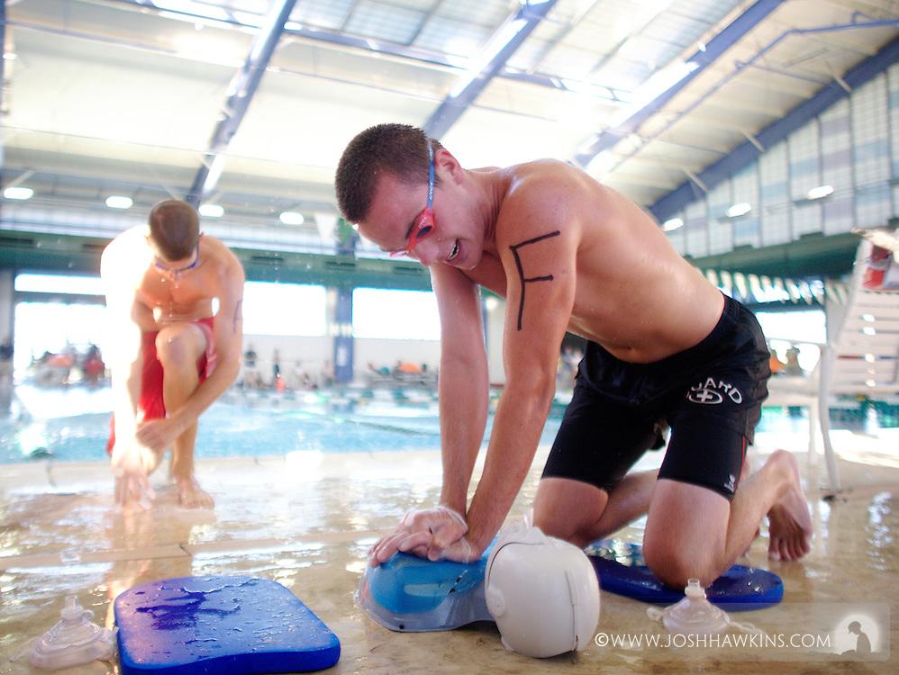 Lifeguard games 2011 for the Southern Nevada Red Cross.Brandon Goodnough and Kiel Nabiker