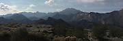 Landscape panorama photo of mountains near San Felipe, Baja California, Mexico