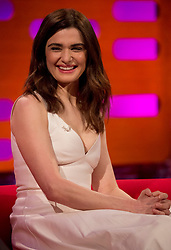 Rachel Weisz during filming of the Graham Norton Show at the London Studios, to be aired on BBC One on Friday evening.
