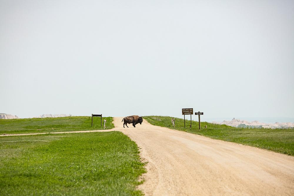 Entrance to Badlands National Park in South Dakota