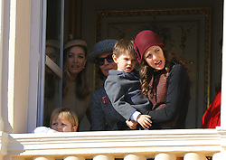 Charlotte Casiraghi and and her son Raphael, Princess Caroline of Hanover, Beatrice Casiraghi attending the Monaco National Day Celebrations in the Monaco Palace Courtyard on November 19, 2017 in Monaco, Monaco. Photo by Yuri Krakow/ABACAPRESS.COM