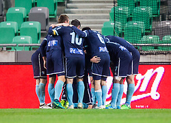 Players of Gorica celebrate after scoring first goal during football match between NK Olimpija Ljubljana and ND Gorica in Round #26 of Prva liga Telekom Slovenije 2016/17, on March 29, 2017 in SRC Stozice, Ljubljana, Slovenia. Photo by Vid Ponikvar / Sportida