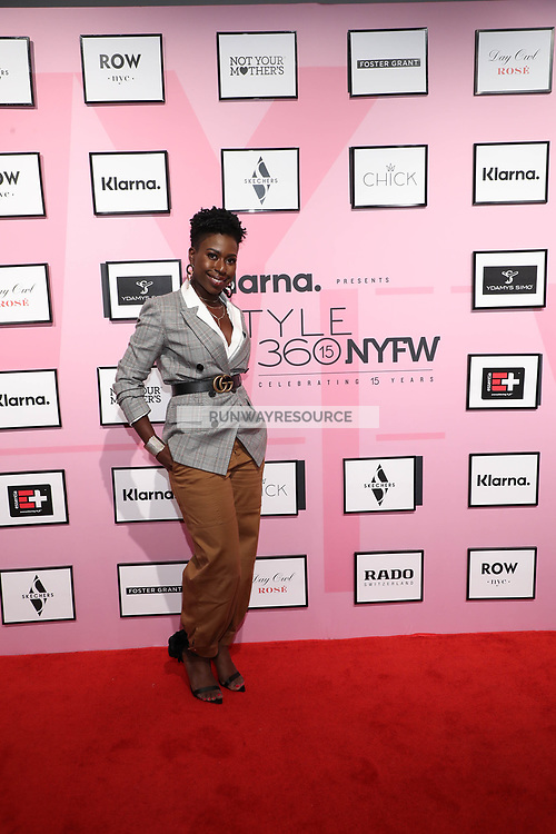 Psyche Terry attends Klarna STYLE360 NYFW Hosts Chick And Ydamys Simo Runway Show