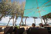 The Lava Lava Lounge at the Kauai Shores boutique hotel has views of the ocean and signature Mai Thai cocktails.