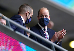 The Duke of Cambridge, Prince William in the stands during the UEFA Euro 2020 Group D match at Wembley Stadium, London. Picture date: Tuesday June 22, 2021.