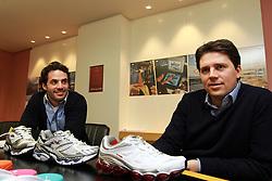 Pedro Bartelle, diretor de marketing e Marcio Callage, gerente de marketing do Grupo Vulcabrás / Azaléia. FOTO: Marcos Nageltein / Preview.com