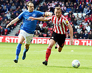 Lee Cattermole goes for the ball during the EFL Sky Bet League 1 match between Sunderland and Portsmouth at the Stadium Of Light, Sunderland, England on 27 April 2019.