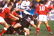 New Zealand 'A' hooker Mark Hammett in action during the international rugby union match between New Zealand 'A' and Tonga 1998. Photo: PHOTOSPORT