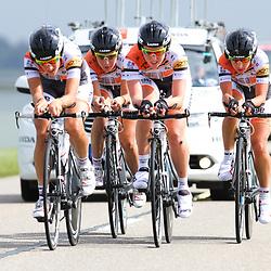 Brainwash Ladiestour Dronten Team Time Trail Faren Honda Team Maria Giuli Confalonieri, Gracie Elvin, Myfarwy Galloway, Elena Utrobina