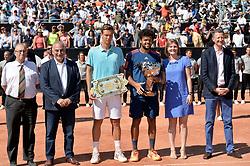 May 27, 2017 - Lyon - Parc Tete D'Or, France - Tomas Berdych et Jo-Wilfried Tsonga (Credit Image: © Panoramic via ZUMA Press)