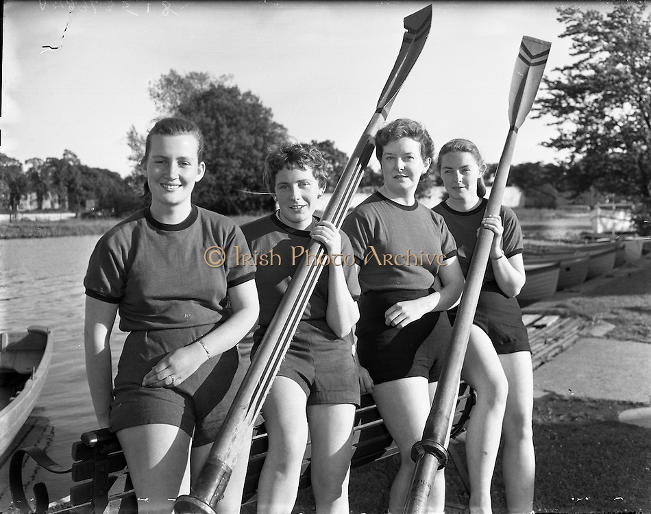 Female Rowing Crew in Galway - 23/06/1958 .