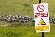 UK military firing range at Lulworth, Dorset, UK.