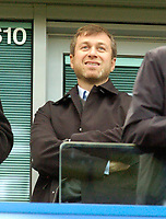 Photo: Leigh Quinnell.<br /> Chelsea v Norwich City. The FA Cup. 17/02/2007.<br /> Chelsea owner Roman Abromavich returns to his box at Stamford Bridge after a long absence.