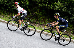Rafal Majka (POL) of Bora - Hansgrohe and Jack Haig (AUS) of Orica - Scott during Stage 3 of 24th Tour of Slovenia 2017 / Tour de Slovenie from Celje to Rogla (167,7 km) cycling race on June 16, 2017 in Slovenia. Photo by Vid Ponikvar / Sportida