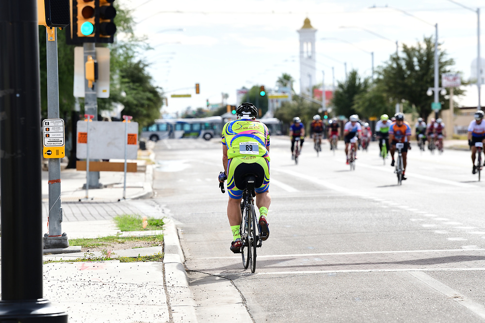 El Tour de Tucson 2019 finisher on 6th Avenue. Heading back to his car? Perhaps. Whatever the destination, his race is complete. Bike-tography by Martha Retallick.